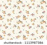 floral pattern. pretty flowers...   Shutterstock .eps vector #1113987386