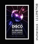 disco party vector background... | Shutterstock .eps vector #1113987938