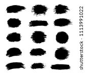 collection of black paint  ink... | Shutterstock .eps vector #1113991022