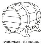 line art black and white beer...   Shutterstock .eps vector #1114008302
