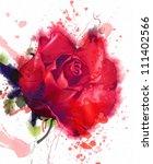 Red Rose. Watercolor