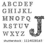 Initial Monogram Letters. Set...