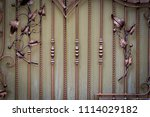 the wrought iron gates ... | Shutterstock . vector #1114029182
