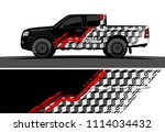 truck and car graphic... | Shutterstock .eps vector #1114034432