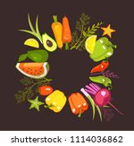 vector image of a circle of... | Shutterstock .eps vector #1114036862