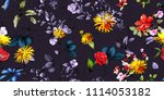 wide seamless background floral ... | Shutterstock .eps vector #1114053182
