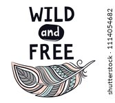 wild and free | Shutterstock .eps vector #1114054682