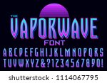 a condensed alphabet design in... | Shutterstock .eps vector #1114067795