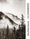 banff national park foggy... | Shutterstock . vector #1114068005