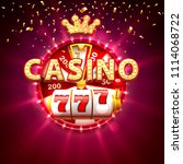 casino banner text on the... | Shutterstock .eps vector #1114068722