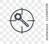 keyword vector icon isolated on ... | Shutterstock .eps vector #1114069238