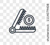 trap vector icon isolated on... | Shutterstock .eps vector #1114079408