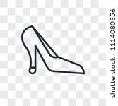 heels vector icon isolated on... | Shutterstock .eps vector #1114080356