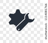 settings vector icon isolated... | Shutterstock .eps vector #1114081766