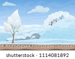 beautiful winter game style...   Shutterstock . vector #1114081892