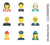 set of 9 simple editable icons... | Shutterstock .eps vector #1114083056