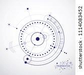 mechanical scheme  engineering... | Shutterstock . vector #1114083452