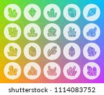 crystal icons set. web sign kit ... | Shutterstock .eps vector #1114083752