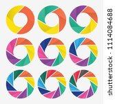 vector circle for infographic... | Shutterstock .eps vector #1114084688