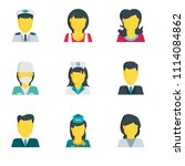 set of 9 simple editable icons... | Shutterstock .eps vector #1114084862