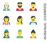 set of 9 simple editable icons... | Shutterstock .eps vector #1114085252