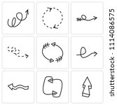 set of 9 simple editable icons... | Shutterstock .eps vector #1114086575