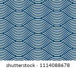 water waves seamless pattern ... | Shutterstock . vector #1114088678