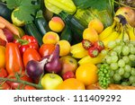 fruits and vegetables like... | Shutterstock . vector #111409292