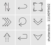 set of 9 simple editable icons... | Shutterstock .eps vector #1114095602