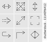set of 9 simple editable icons... | Shutterstock .eps vector #1114096412