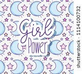 woman power pattern background | Shutterstock .eps vector #1114100732