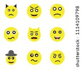 set of 9 simple editable icons... | Shutterstock .eps vector #1114109798