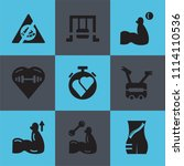 set of 9 simple editable icons... | Shutterstock .eps vector #1114110536
