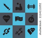 set of 9 simple editable icons... | Shutterstock .eps vector #1114111052