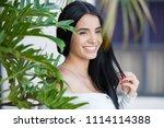 beautiful hispanic woman   Shutterstock . vector #1114114388