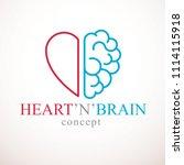 heart and brain concept ... | Shutterstock . vector #1114115918
