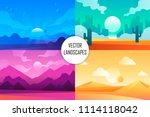 set of vector cartoon... | Shutterstock .eps vector #1114118042