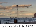 saltburn sunset 16th june 2018. ... | Shutterstock . vector #1114123658