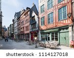 rouen normandy may 4th 2013... | Shutterstock . vector #1114127018
