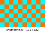 orange and blue checkerboard | Shutterstock . vector #1114132