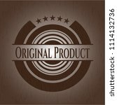 original product wood emblem | Shutterstock .eps vector #1114132736