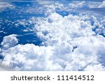 blue sky and clouds looking...   Shutterstock . vector #111414512
