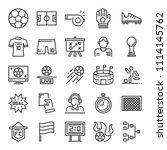 soccer pixel perfecr icons ...   Shutterstock .eps vector #1114145762