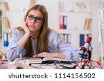 student sitting in classroom... | Shutterstock . vector #1114156502