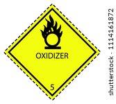 oxidizer 5.1 label for...   Shutterstock .eps vector #1114161872