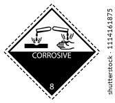 corrosive label for...   Shutterstock .eps vector #1114161875