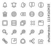 set of basic ui ux icons  with... | Shutterstock .eps vector #1114163435