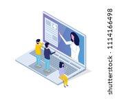 medical app  health technology... | Shutterstock . vector #1114166498