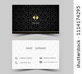 modern business card design.... | Shutterstock .eps vector #1114174295