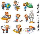 back to school. cute... | Shutterstock . vector #111418046